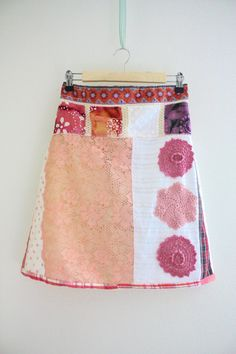 M Upcycled Skirt Summer skirt Recycled Eco friendly by SaidoniaEco