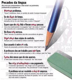 Pecados da língua! #portugues #dicas #concursos