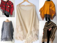 Mustard Ponchowarmwomen Trendsclothingsewingwool by seno on Etsy, $85.00
