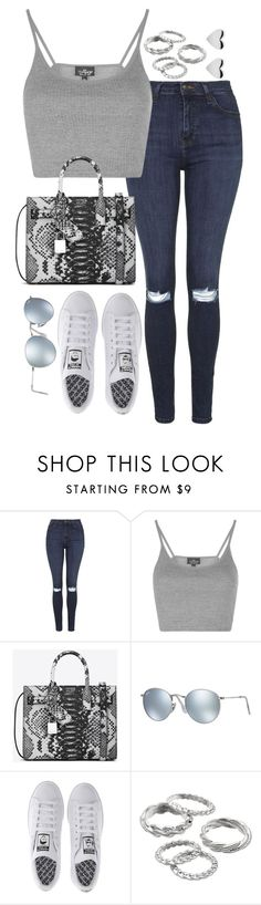 """""""Sin título #5408"""" by marianaxmadriz ❤ liked on Polyvore featuring Topshop, Yves Saint Laurent, Ray-Ban, adidas and Apt. 9"""