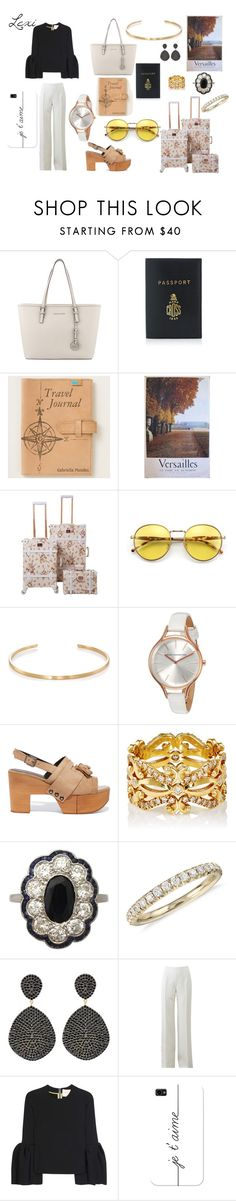 """""""VERSAILLES OUTFIT"""" by lexiperez599 on Polyvore featuring MICHAEL Michael Kors, Mark Cross, Wildfox, Le Gramme, French Connection, Robert Clergerie, Sara Weinstock, Blue Nile, Latelita and Michael Kors"""