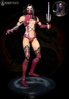 name mileena custom type action figure toy series Crazy Toys, Mileena, Custom Action Figures, Various Artists, Body Painting, Body Art, Wonder Woman, Superhero, Google Search
