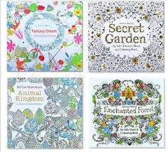 Children Adult Puzzle Secret Garden Treasure Hunt Coloring Painting Book Funny