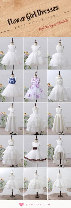 Flower Girl Dresses 2016 Collection High Quality & Affordable The Effective Picture Girls Fancy Dresses, Cheap Flower Girl Dresses, Little Girl Dresses, Flower Girls, Bridesmaid Flowers, Bridesmaid Dresses, Wedding Dresses, Gown Wedding, Lace Wedding