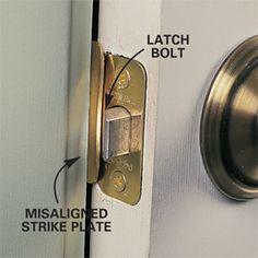 how to repair interior doors