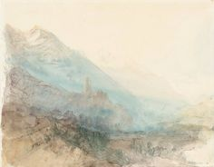Martigny: The Castle of La Bâtiaz, from the South 1841 Joseph Mallord William Turner