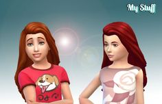 City Hairstyle for Girls at My Stuff • Sims 4 Updates