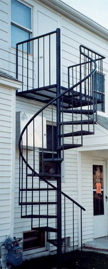 Cast Iron Spiral Staircase With Landing And Balcony Rails. This Spiral  Staircase Is Available To Purchase From UKAA. | Stairs Loft, Staircase |  Pinterest ...