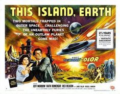 This Island Earth Hz Movie poster Metal Sign Wall Art 8in x 12in