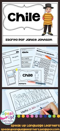 Chile Reader {en español} & Vocab pages ~ Simplified for Language Learners Chile, Spanish Immersion, Hispanic Culture, Spanish Speaking Countries, Spanish Culture, Emergent Readers, Dual Language, Spanish Classroom, Student Reading
