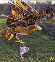 Flying Eagle - Delphi Stained Glass