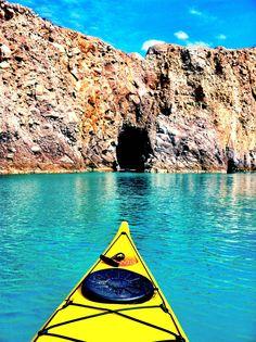 AFAR.com Highlight: Sea Kayaking Around Milos by Jennifer Damico Kayak Camping, Canoe And Kayak, Sea Kayak, Kayaks, Places To Travel, Places To See, Greece Travel, Greece Trip, To Infinity And Beyond