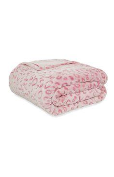 Sprei met roze luipaardprint