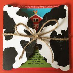 Invitaciones de la granja / granja invitaciones de por MiamiCrafts