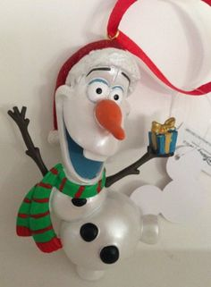 Disney Parks Olaf Ornament - Bought December 2014 at the 12 Days of Christmas store in Downtown Disney - Orlando, FL ~ I love this store, which is Christmas all year 'round, but it is crazy crowded the closer it is to Thanksgiving/Christmas ~ <3 Michelle M