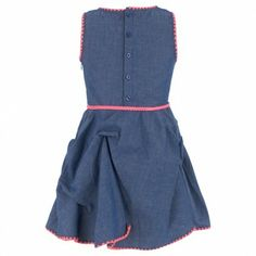 Chambray and Neon Pink Wild Dress