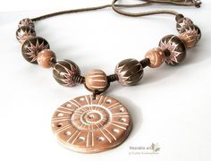 Chevron-style beads necklace by bounty_gg, via Flickr