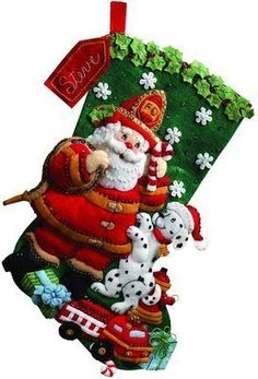 Fireman Hero Bucilla Christmas Stocking by JustSayItBaby on Etsy Felt Stocking Kit, Christmas Stocking Kits, Felt Christmas Stockings, Kids Christmas, Christmas Crafts, Christmas Decorations, Christmas Ornaments, Stocking Ideas, Santa Stocking
