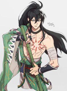 Steps for Portrait Drawing with Charcoal - Drawing On Demand Anime Warrior, Fantasy Warrior, Anime Demon, Fantasy Art, Male Character, Character Concept, Manga Art, Manga Anime, Anime Krieger