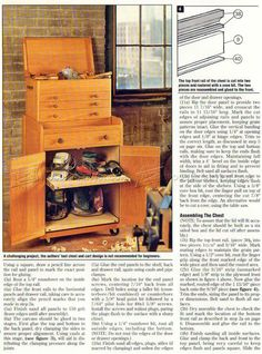 Rolling Tool Cabinet Plans - Workshop Solutions