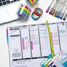 "This week's #PCW is @Readamy!  - ""I use my Passion Planner to manage my schedule - between my day job at a museum and my freelance endeavors as an artist it can get a little crazy! I use colored pens and washi tape to plan everything out."""