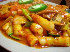 Korean spicy rice cake.