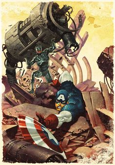 What If? Age of Ultron #4 - Captain America by Chris Stevens *