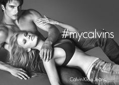 Put it on. Take it off. Model Lara Stone + Matthew Terry in the Fall 2014 Calvin Klein Jeans + Underwear campaign. #mycalvins