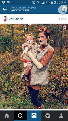 Lovely fox costume                                                       … Fox Halloween Costume, Baby Girl Halloween, Diy Halloween Costumes For Women, Creative Costumes, Halloween Fun, Diy Fox Costume, Homemade Costumes, Diy Costumes, Fox Costume Womens