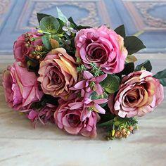 Soledi®Estilo Europeo 1 x Manojo de 11 Piezas Rosas Hortensia Flores Artificiales falsas de tela Adorno para Boda Ceremonias Navidad Hogar Decoración 5 colores (rosa rojizo) Soledi http://www.amazon.es/dp/B00W1CZO42/ref=cm_sw_r_pi_dp_FqEzwb1ZCTGHV