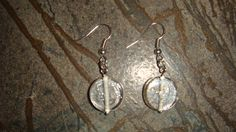 Short Simple Clear Bead Earrings