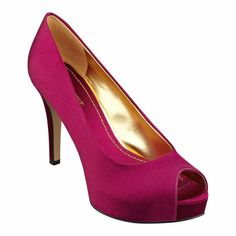 """Peep toe pump on 4"""" heel with 1"""" platform, size 7  Something about the holidays makes me want jewel tones."""