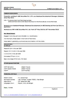Easy Resume Format Fascinating Resume Samples For Experienced In Word Format  20 With .
