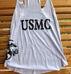 Marine Corps girlfriend usmc tank top by AmyJaneBeauty on Etsy