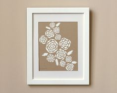 Limited Edition Screen Print - White Roses