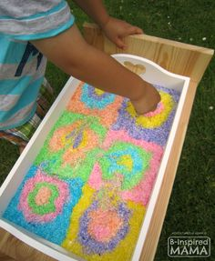 Do your kids like sensory activities?  What's in your sensory bin right now?   Edible Kandinsky-Inspired Sensory Bin Activity - A Super Fun Art History Sensory Play Idea! - B-Inspired Mama