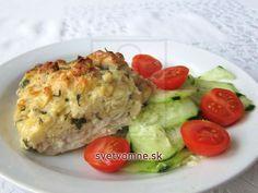 Rybie filé pod syrovou plnkou • Recept | svetvomne.sk Kraut, Baked Potato, Potatoes, Eggs, Chicken, Baking, Breakfast, Ethnic Recipes, Food