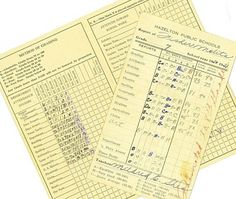 Who remembers report cards that looked like this?