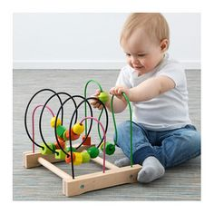 IKEA MULA bead roller coaster Develops fine motor skills and logical thinking.