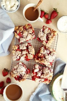 Fresh Strawberry Pie Bars | Joy the Baker