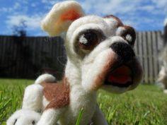Needle felted Bulldog puppy