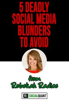 These 5 social media blunders will destroy your marketing efforts. Here's how you can recognize and avoid them and what to do instead.