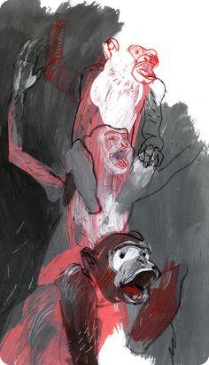 Artem Krepkiy. Art Studies, Psychedelic Art, Illustrations And Posters, Art Inspo, Graphic Illustration, Art Drawings, Concept Art, Cool Art, Sketches