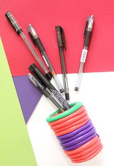 do it yourself clay pen holders