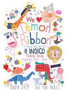 We ♥ Lemon Ribbon! Come along and see us at Indigo ... Booth 5V39