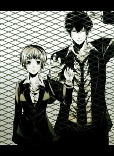 This drawing is amazing!!!! It's kinda depressing though, how Kougami is behind the fence...