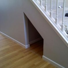 Under Stairs Storage Space Stair Storage Litter Box And