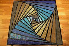 Mesa de mosaico de vidrio