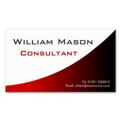 Cool Red White Curved, Professional Business Card. I love this design! It is available for customization or ready to buy as is. All you need is to add your business info to this template then place the order. It will ship within 24 hours. Just click the image to make your own!