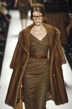 Michael Kors  Aside from the fur coat, the dress is stunning.